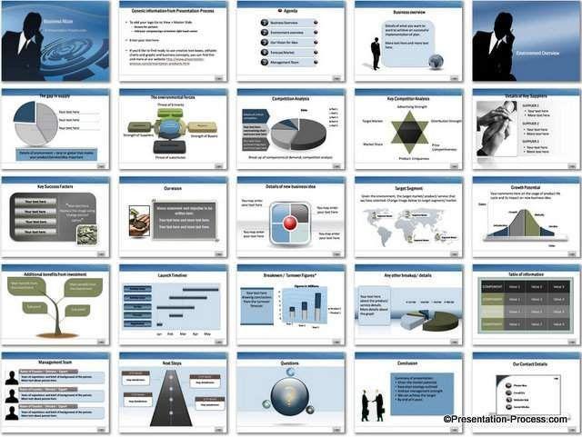 Business Maze PowerPoint Template Set