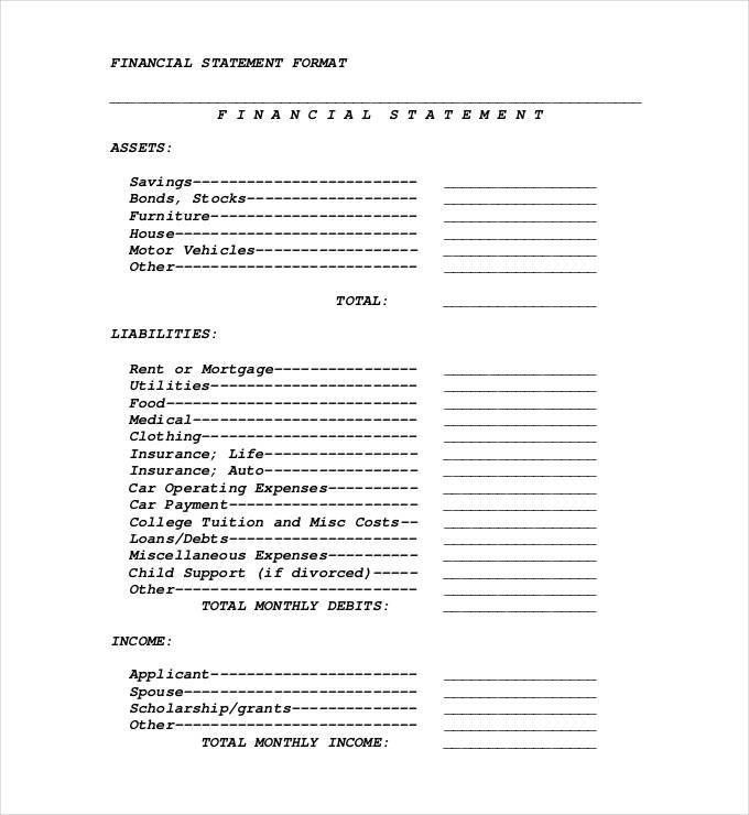 Financial Statement Template - 20+ Free PDF, Excel, Word Documents ...