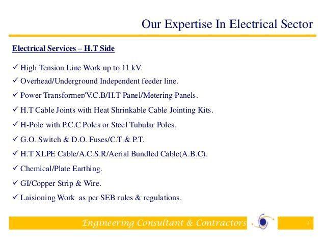 Company profile-Electrical Contractors