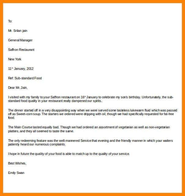 complaint letter template | art resumes