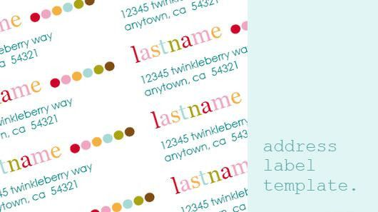 Return Address Label Template at wordtemplatesbundle.com ...