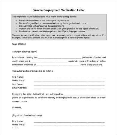 Employment Letter - 6+ Free Sample, Example, Format | Free ...