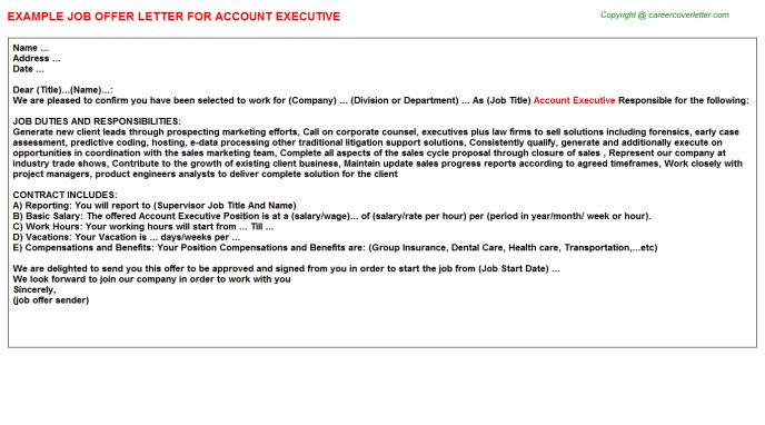 Account Executive Offer Letters