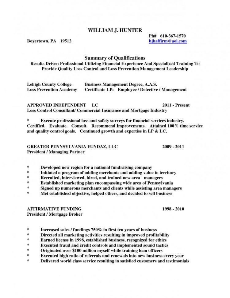 Loss Prevention Investigator Resume Sample Loss Prevention Resume ...