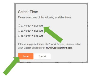 Scheduling an Appointment for Collect Load – UNFI Digital Media
