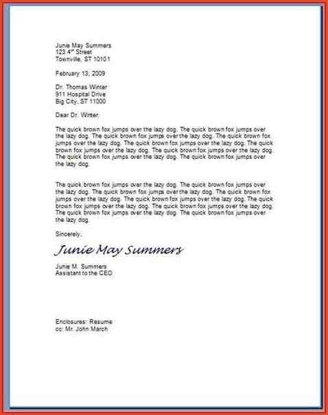 HOW TO FORMAT A PROFESSIONAL LETTER.proper Letter Format To A ...