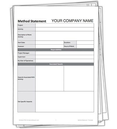 Method Statement Template. Document Image Preview Blank Method ...