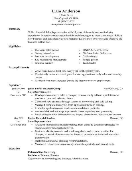 Best Sales Representative Resume Example | LiveCareer
