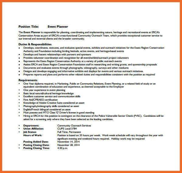 Events Coordinator Resume Coordinator Resume Planner Resume – Resume for Event Planner