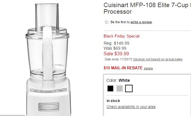Cuisinart Elite 7-Cup Food Processor ONLY $27.60 (Reg $150) - FTM