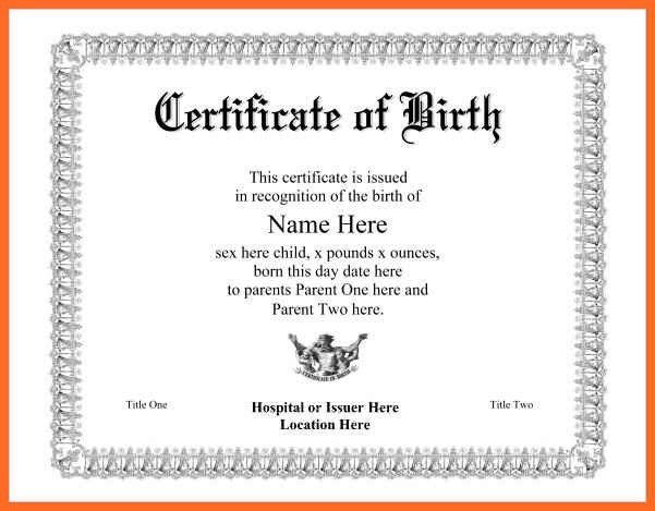 birth certificate maker | soap format