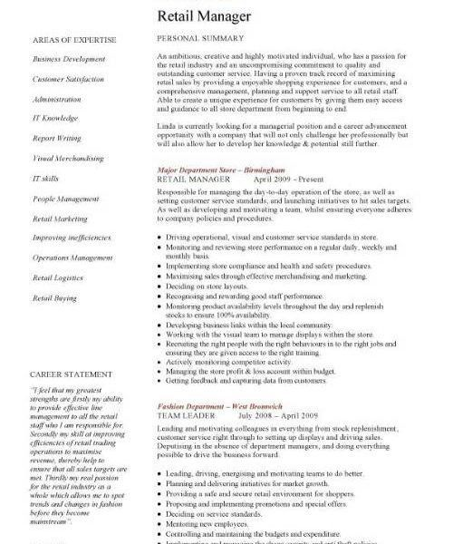 Retail Manager Resume Examples. Retail Assistant Manager Resume 4 ...