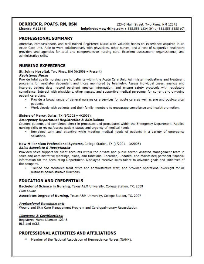 graduate nurse resume samples solaris administration cover letter ...