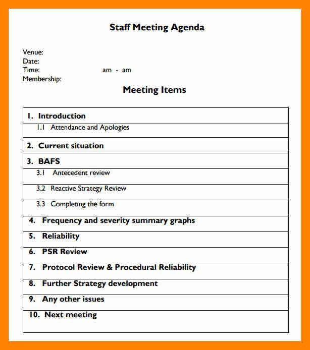 Sample Meeting Agenda Format. Cancer Committee Meeting Agenda ...