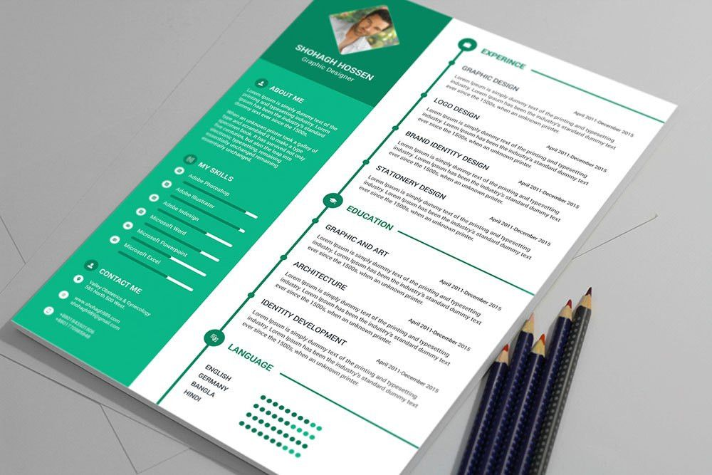Free Clean Resume Design Template in PSD Format - Good Resume