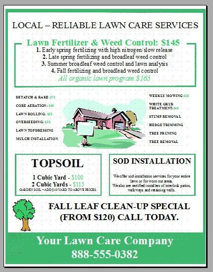 New Lawn Care Business Flyer Template Added | Lawn Care Business ...