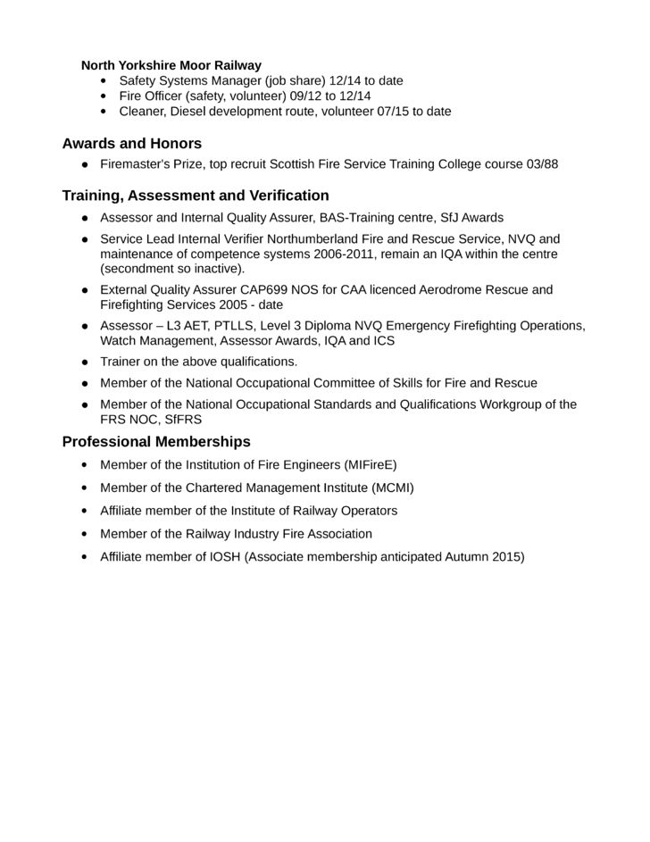 Simple Firefighter Resume Example Template | page 2
