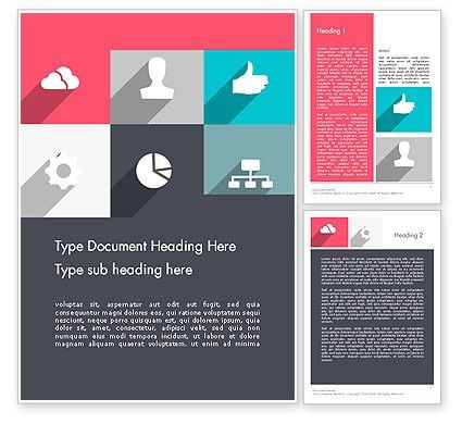 Modern Company Presentation Word Template 12274 | PoweredTemplate.com