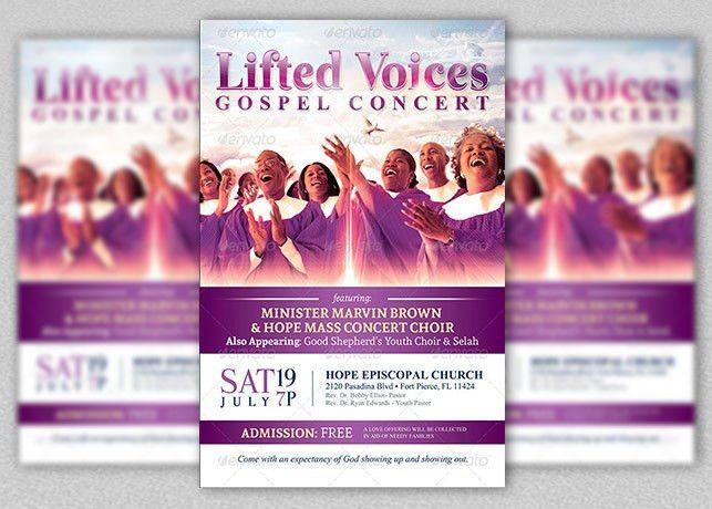 Modern Gospel Concert Church Flyer Template | Inspiks Market