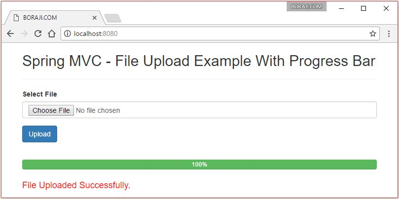 Spring MVC 4 - JQuery Ajax file upload example with progress bar ...