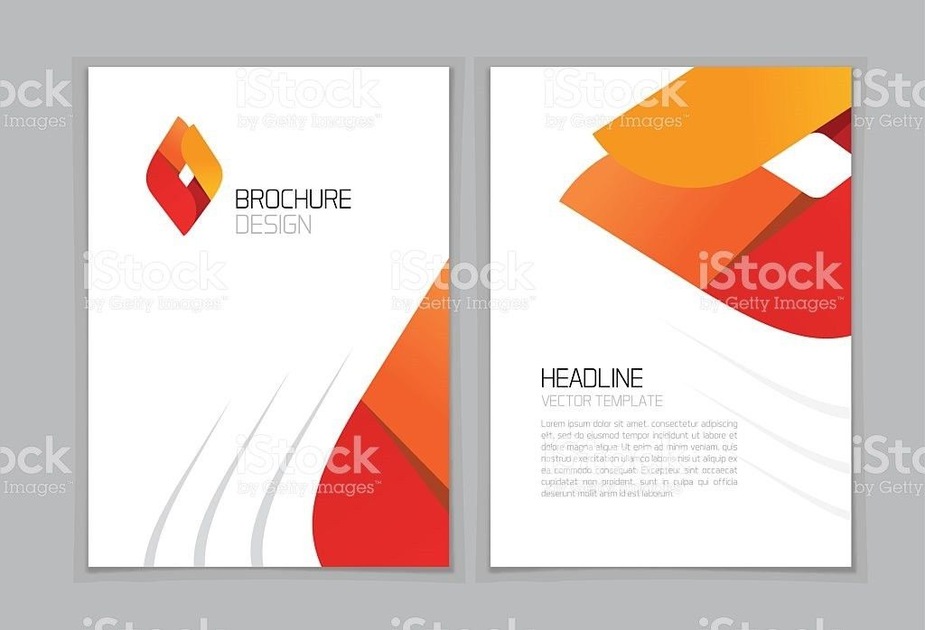 Brochure Flyer Vector Design A4 Booklet Layout Template Geometric ...