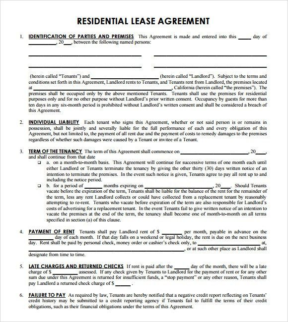 Simple Lease Agreement Michigan | Create professional resumes ...