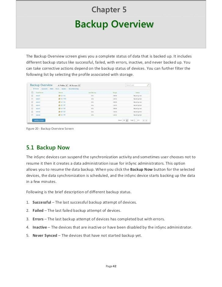 inSync Administrator's Guide Enterprise 5.1