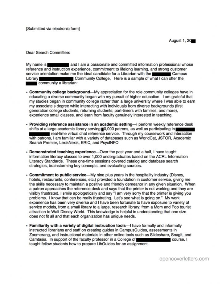 Cover Letter For A Teaching Position At College | Docoments Ojazlink