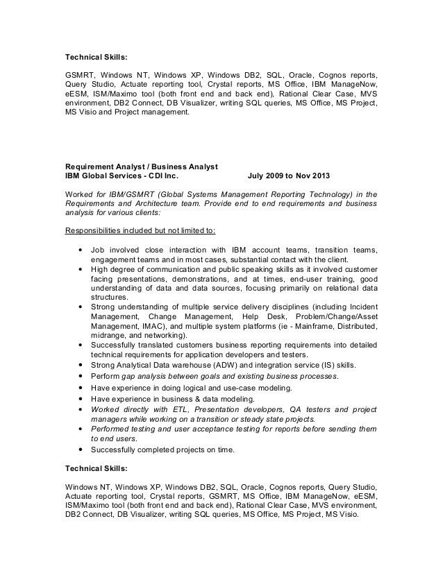 Cognos Report Developer Cover Letter
