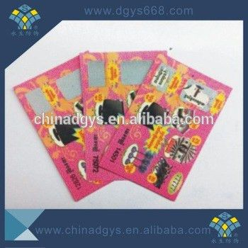 Custom Scratch Card Lucky Draw Coupon - Buy Scratch Coupon ...