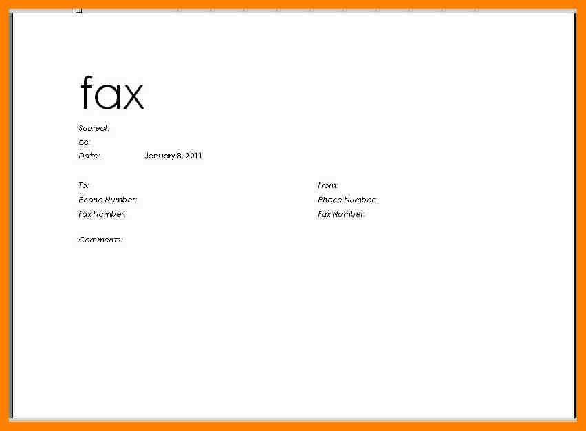 Fax Header Template Word [Template.billybullock.us ]