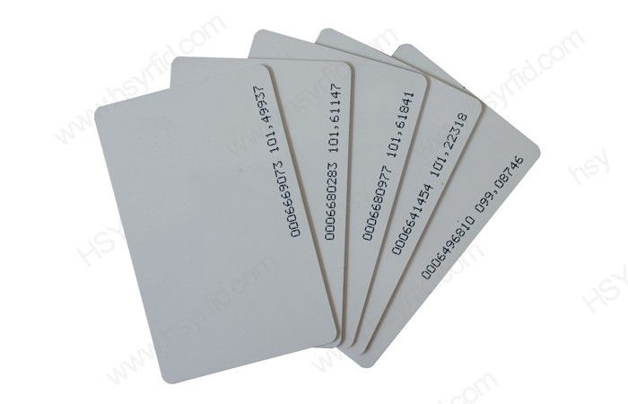 Plastic Plain Card Membership Blank Pvc Empty Id Card Size Cr80 ...
