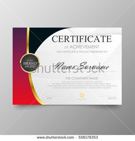 Certificate Layout, blue red certificate template awards diploma ...