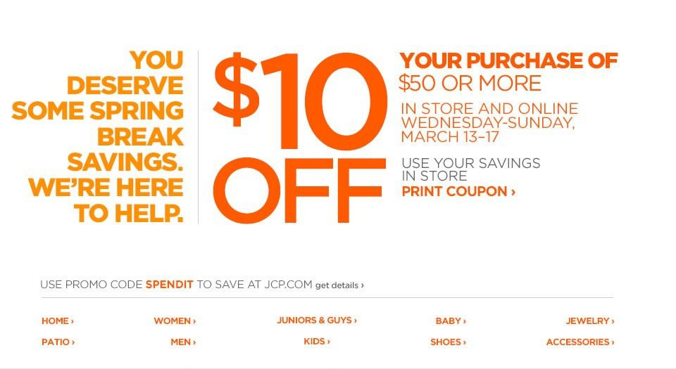 WHATWOULDTARADO?: JC Penney: $10 off $50 with printable coupon ...