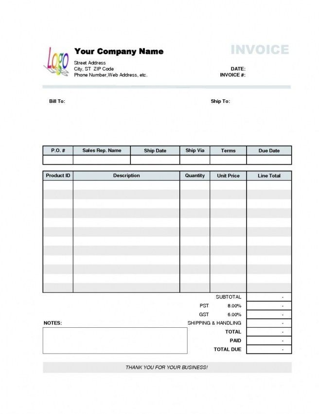 Mock Invoice | Blank.csat.co