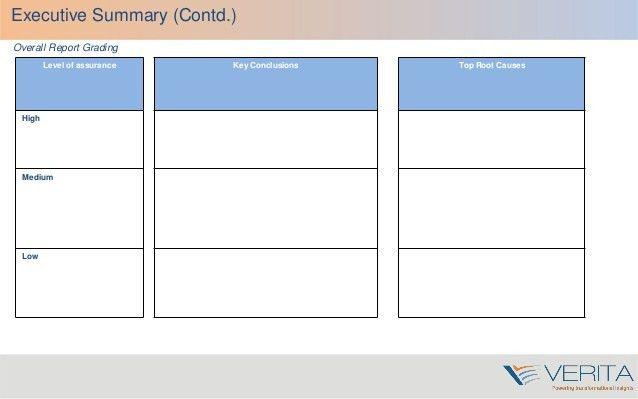 Verita audit report writing training v1