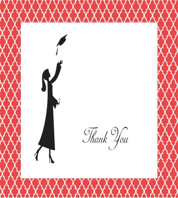 15+ Graduation Thank You Notes – Free Sample, Example, Format ...