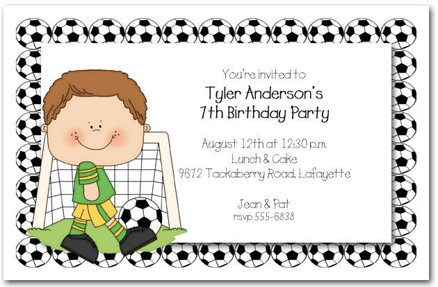 Boys Soccer Time Party Invitations, Soccer Invitations