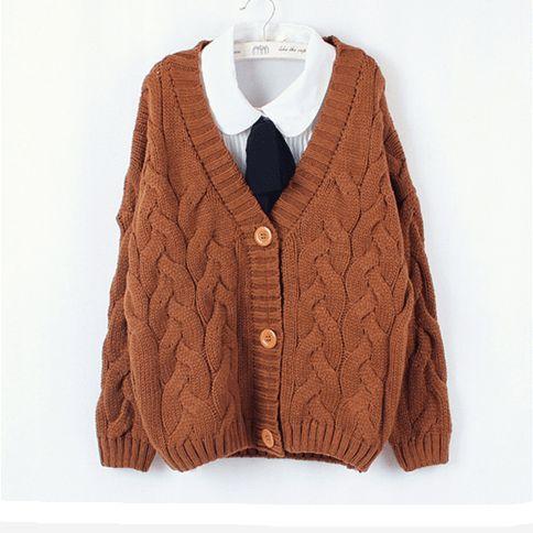 Korean sweet v-neck sweater Cute Kawaii Harajuku Fashion Clothing ...