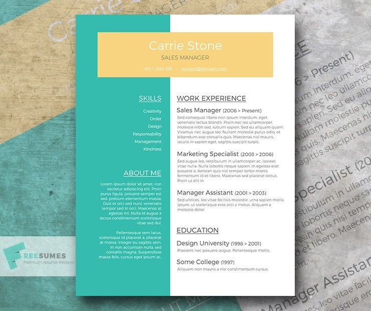 Free Resume Template - The Sophisticated Candidate