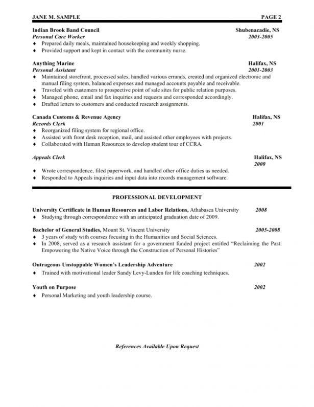 Curriculum Vitae : Template For Professional Resume Free Resume ...