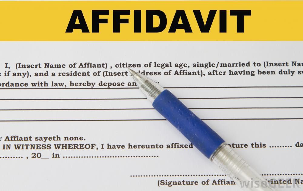 What is an Affidavit? (with pictures)