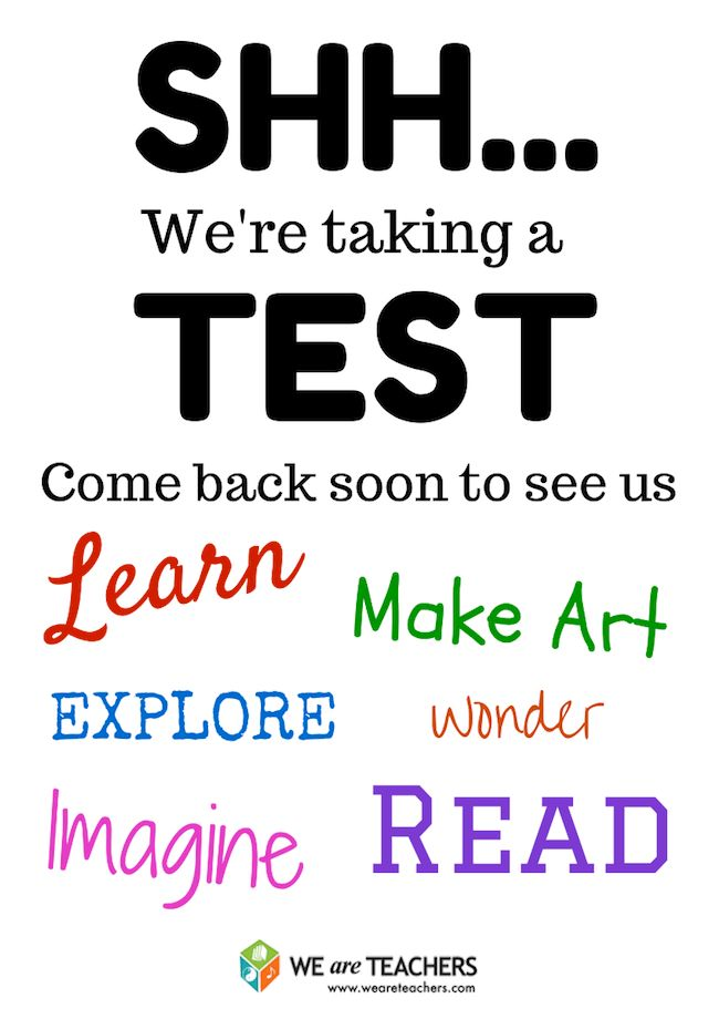 Free Printable Door Signs for Testing Week | Door signs, Doors and ...