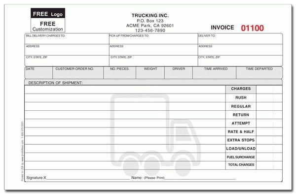 Delivery Invoice Template - Invitation Template