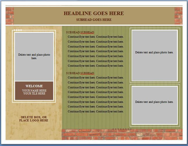 Free MS Word Real Estate Flyer Template | Formal Word Templates