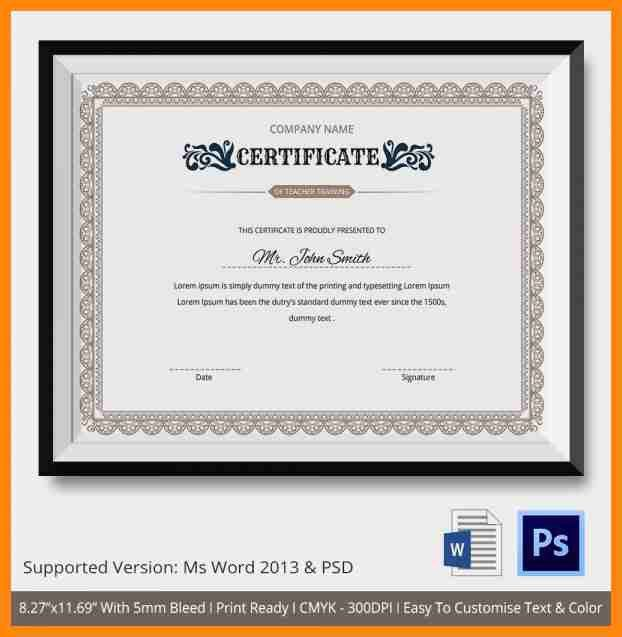 9+ training certificate templates | nurse resumed