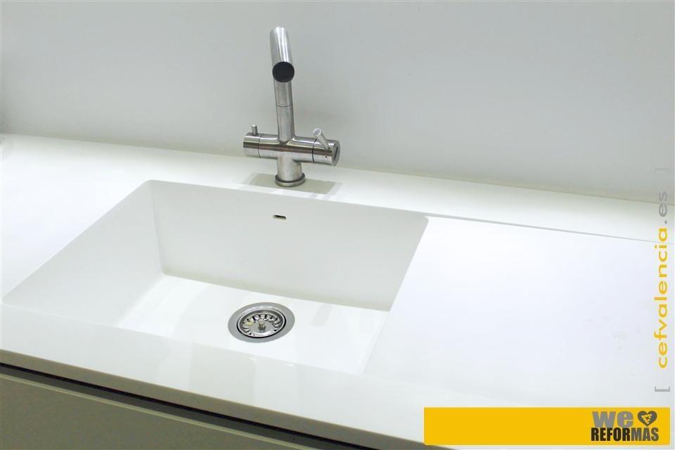 Fregadero sintetico bajo encimera con escurridor jpg for Fregadero con escurridor bajo encimera
