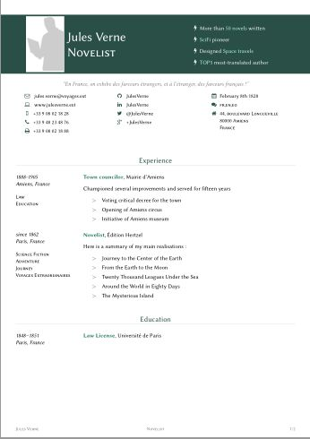 packages - LaTeX template for resume/curriculum vitae - TeX ...
