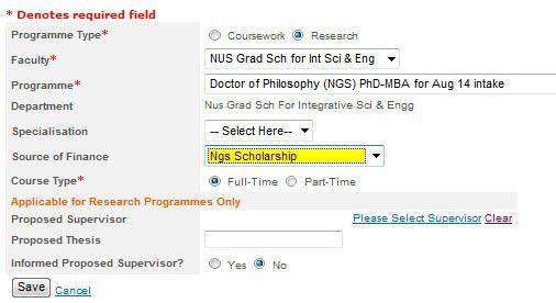 PhD Application - NUS Graduate School for Integrative Sciences and ...