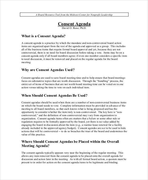 Agenda Sample - 34+ Examples in Word, PDF
